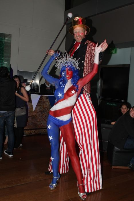 Human Statue Bodyart ramps up American and Americana ...