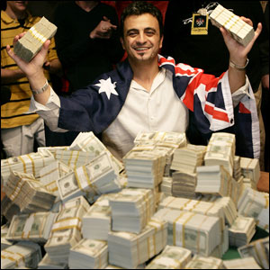 Joe Hachem cleans up at the 2005 World Series of Poker