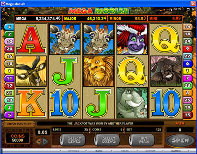 mega moolah by captain cooks casino